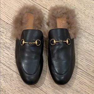 Gucci Fur Lined Mules